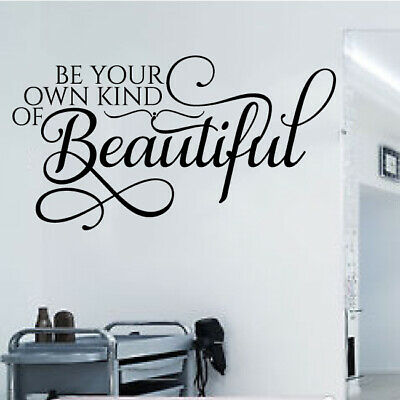 Hair Salon Retail Shop Wall Sticker Be Your Own Kind Of Beautiful Vinyl Beauty 2