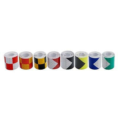 PVC Safety Reflective Warning Tape Conspicuity Film Sticker Multi-color HC 12