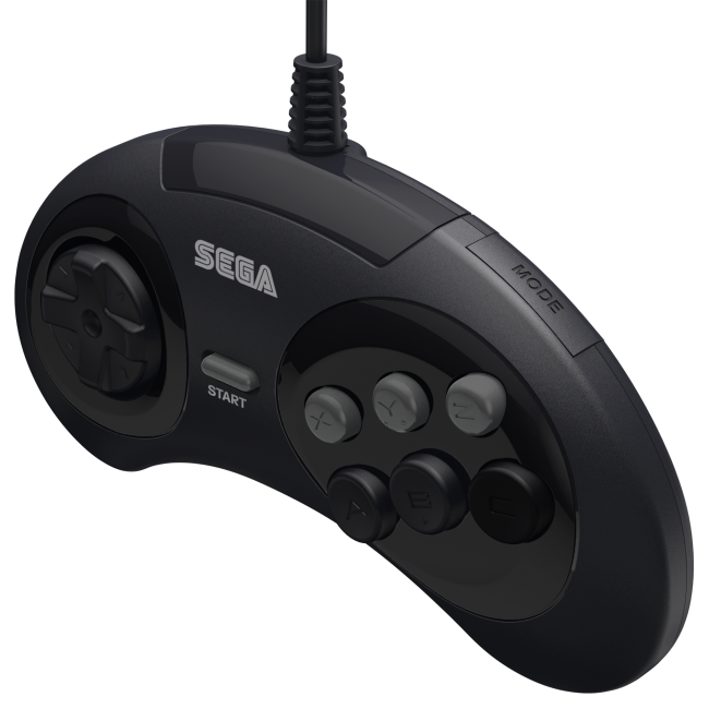 Retro-Bit Official Sega Genesis Controller 6-Button Arcade Pad  Black 2