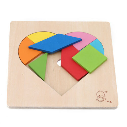 Children Puzzle Kids Wooden Educational Toys Heart Shape Jigsaw Puzzle Toys Shan 9