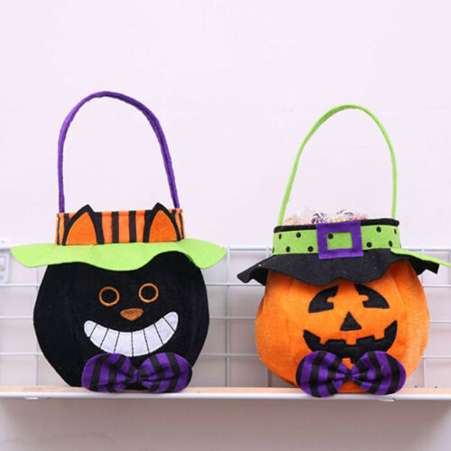 Halloween Candy Bag Pumpkin Cat Witches Vampire Party Decor For Kids Gift Bag G