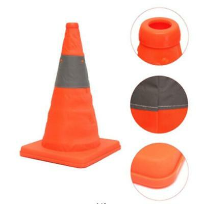 Fold Traffic Road Cone Telescopic Reflective Tape Warning Sign Safety Witches FW 4