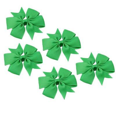 Hair Bows Band Boutique Alligator Clip Grosgrain Ribbon For Girls Baby Kids MA 7