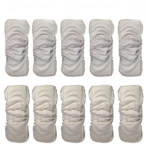 Baby Cloth Diaper Inserts Soaker Pads Reusable Washable No-Leaking BL3 3