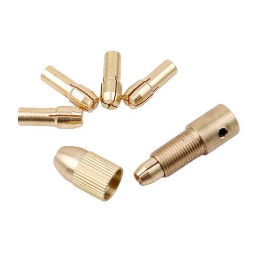 7pcs Small Electric Copper Drill Bit Collet Micro Board Wood Twist Chuck Set S