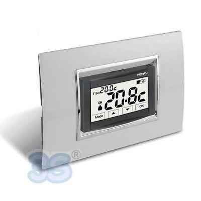 3S Termostato digitale 3V da incasso touch screen MOON SOFT TOUCH Perry 1TITE542 2