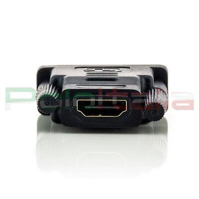 Adattatore da DVI-D dual link 24+1pin maschio a HDMI femmina | convertitore cavo 5