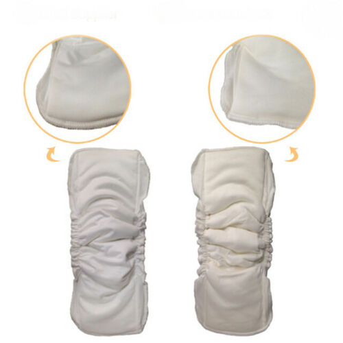 Baby Cloth Diaper Inserts Soaker Pads Reusable Washable No-Leaking BL3 2