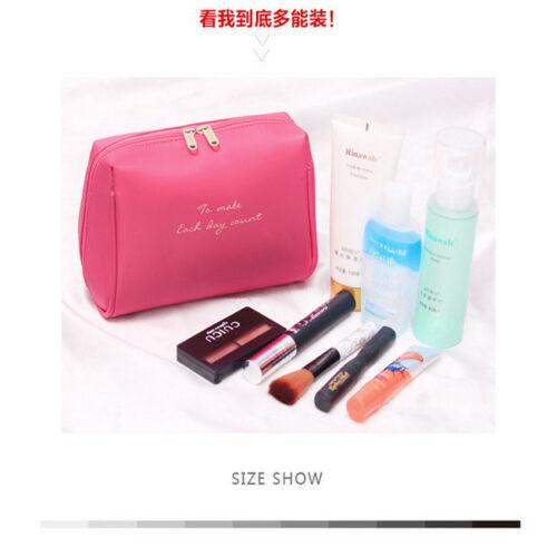 Women Travel Makeup Travel Organizer Cosmetic Toiletry Zip Storage Bag Pouch B 3