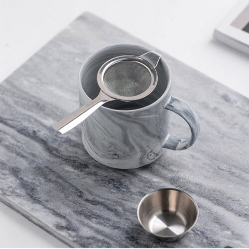 Sunnex Tea Strainer And Stand Stainless Steel Drip Bowl N3