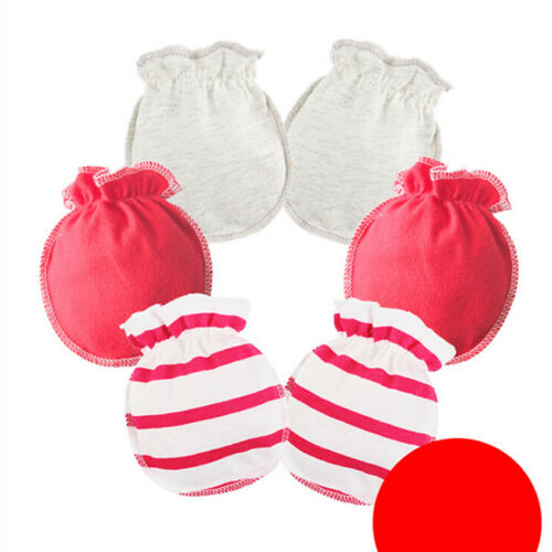 3 Pairs Anti Scratch Mittens Newborn Baby Girl Glove Infant Cotton Handguard SK 5