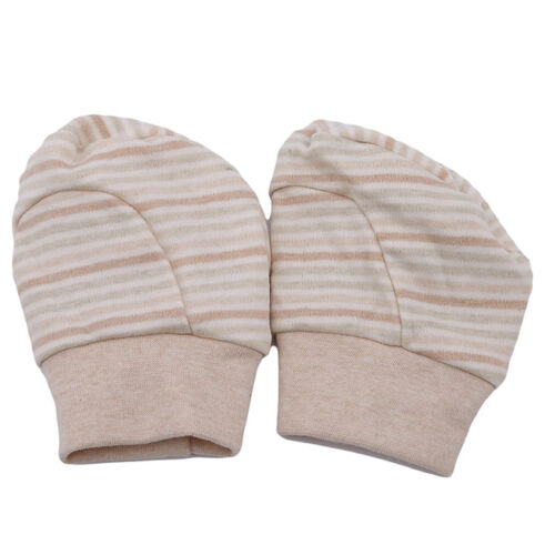 Striped Boy Girl Newborn Anti Scratch Infant Warm Foot Gloves Mittens Unisex N7 2