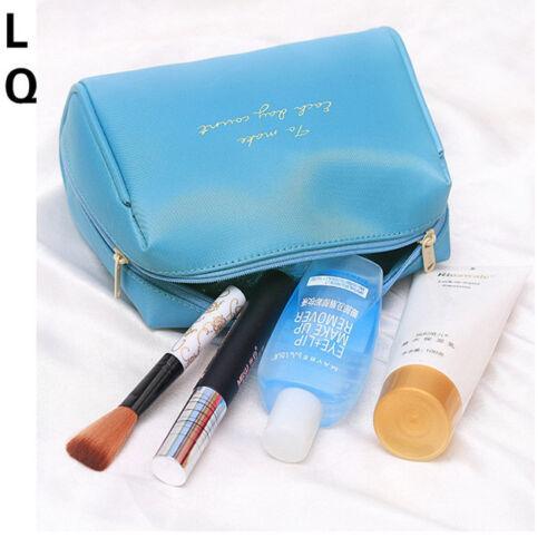 Women Travel Makeup Travel Organizer Cosmetic Toiletry Zip Storage Bag Pouch B 7