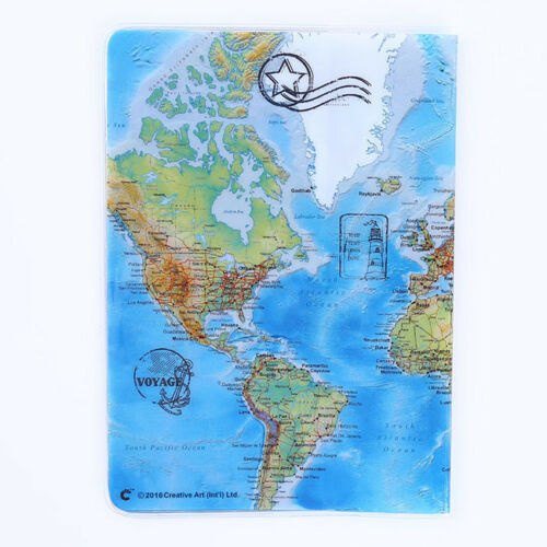 719b648ae Vintage World Map Passport Cover ID Holder Wallet Protector Case Travel D  10 10 of 12 ...