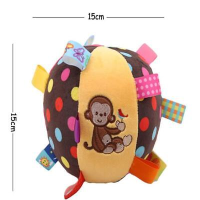 Taggies Ball Rattle Plush Baby Toy Tags Pastel Colors Polka Dots Y2