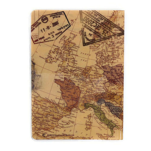 248369438 Vintage World Map Passport Cover ID Holder Wallet Protector Case Travel D 4  4 of 12 ...