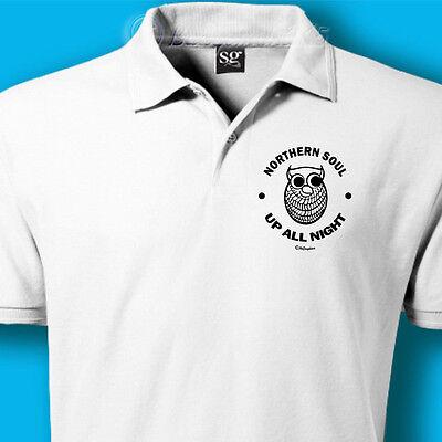 Northern Soul Retro Twin Stripe Coton T-Shirt WC 2086 White Mens Wigan Casino