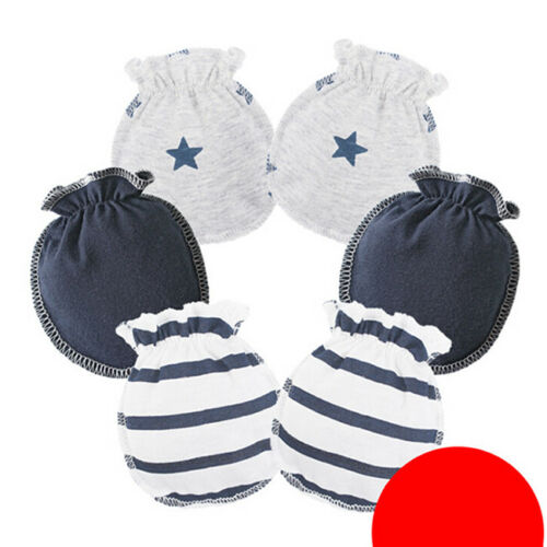 3 Pairs Anti Scratch Mittens Newborn Baby Girl Glove Infant Cotton Handguard SK 3