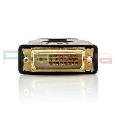 Adattatore da DVI-D dual link 24+1pin maschio a HDMI femmina | convertitore cavo 4