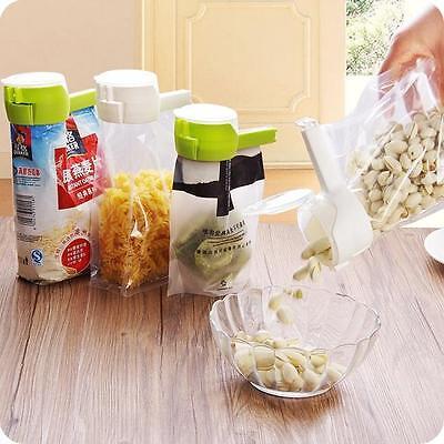 Kitchen Seal & Pour Food Storage Bag Sealer Clip Freezer Fridge Bag Sealing Clip