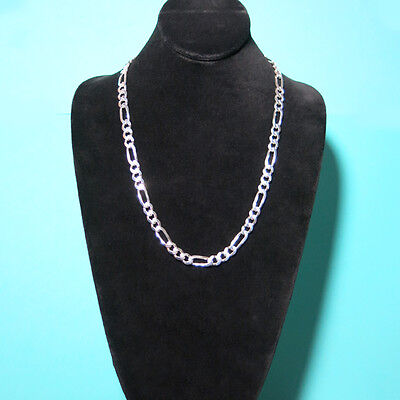 925 Sterling Silver Figaro Mens Boys Chain Necklace .925 Italy All Sizes