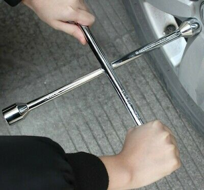 4 Way Lug Wrench Universal Car Tire Changing Repair Tool Cross Steel Wheel Nut 4