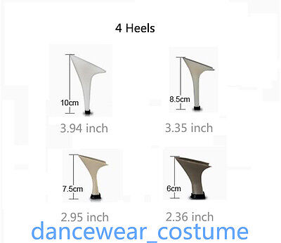 Women's Satin Ballroom Salsa Latin Tango Ceroc Dance Shoes Heeled Sandals All SZ 7
