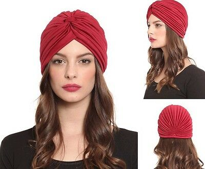 Ladies Stretch Headcover Head Wrap Beanie Chemo Bandana Animal Print Hat Turban 6