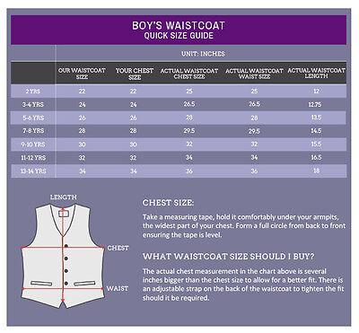 DQT Premium Swirl Patterned Page Boy Vest Wedding Boys Waistcoat for 2 to 14 Yrs
