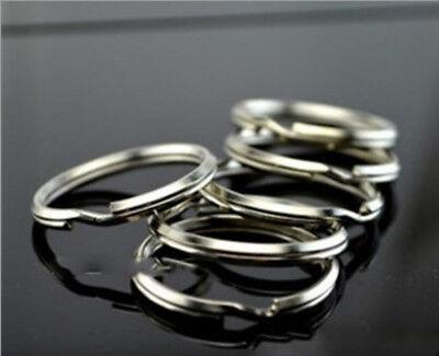 200PCS Key Rings Chains Split Ring Hoop Metal Loop Steel Accessories 25mm US 7