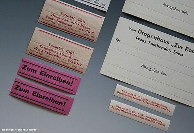 24 x Etiketten für Apotheken Flaschen aus SOEST um 1900-1960 6