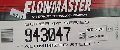 "Flowmaster 943047 Super 44 Muffler 3/"" Center Inlet 3/"" Offset Outlet"