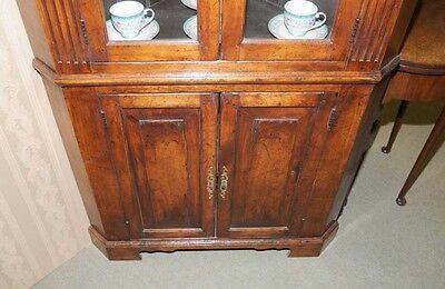 Farmhouse Cherry Wood Corner Cabinet Display Bookcase 8 • £1,435.50