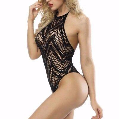 Italienische Body Negligee Dessous Rückenfrei Erotik Reizwäsche Monokini Sexy 6
