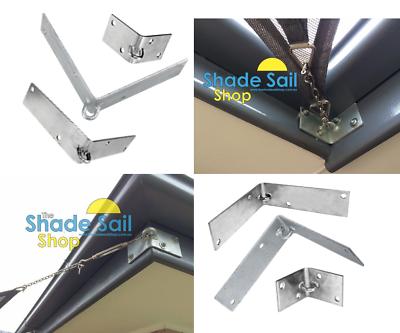 100 x 100 mm Corner Bracket  External STAINLESS STEEL DIY Shade sail accessories 6