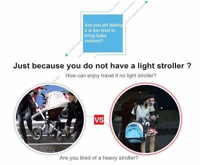 New 2019 Compact Lightweight Baby Stroller Pram Easy Fold Travel Carry on Plane