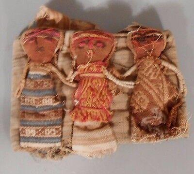 Peru Peruvian Central Coast Chancay Fabric Cotton Burial Dolls  #3 9