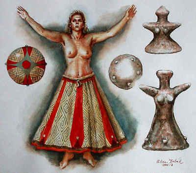 Serie of 4 Venuses of Neolit from Těšetice-Kyjovice (Czech) - casts of resin 6