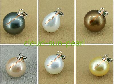 HOT Huge AAAA 16mm Black South Sea Shell Pearl Earring