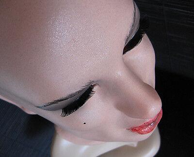 DOMINANT EMILY MASK +LASHES/WIMPERN - Real. Female Latex Latexmaske Frauenmaske