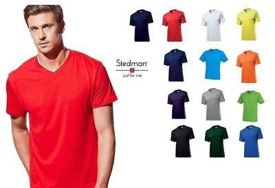 T-Shirt Maglietta Manica Corta Uomo Stedman St2300 Collo A  V  Personalizzabile 2