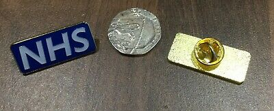 NHS STAFF ENAMEL PIN BADGE - Rainbow , Blue , White , Black . Pink , Green 7
