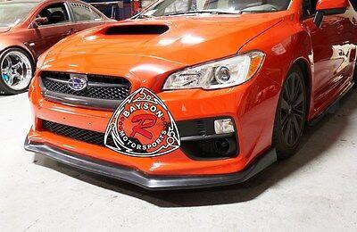 CS-Style Front Lip (Urethane) Fits 15-17 Subaru WRX STi 3