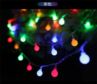 Fairy LED String Lights Christmas Round Ball Blubs Wedding Party Lamp 3M 4M 5M 8