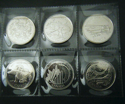 1999 Canada Millennium 12 coin set Quarter 25 cent 25c Canadian Uncirculated BU 2