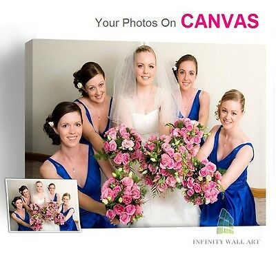 Personalised Photo on Canvas Art Print Framed A0 A1 A2 A3 A4 A5 Ready to Hang.\ 4