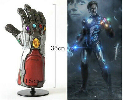 Avengers 4 Endgame Infinity Gauntlet Cosplay Iron Man Tony Stark LED Glove Props 2