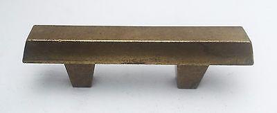 """Brass Mid Century Modern Drawer Pull Vintage  Antique Hardware  1 3/4"""" centers 6"""