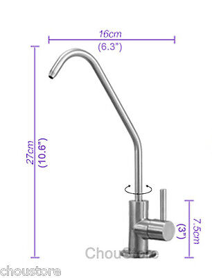 304 Stainless Steel Kitchen Sink Pure Water Faucet Filter Drinking