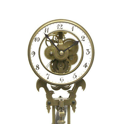 German Style Junghans Brass Elephant Swinging Clock with 8 Day Skeleton Movement 3